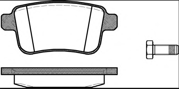 Колодки дисковые задние Рено Кангу 1.6 / 1.5DCi 08> 1352.00