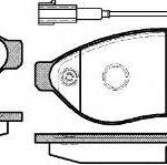 Колодки тормозные передние Ситроен Джампер 21237.01