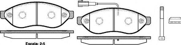 Колодки тормозные передние Фиат Дукато 21237.01