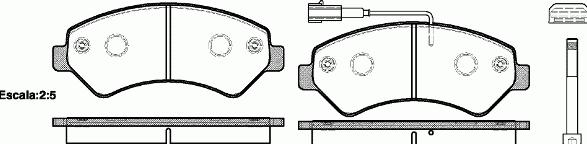 Колодки тормозные передние Фиат Дукато 21275.01